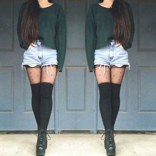 socks thigh highs knee high socks black knee high socks sweater