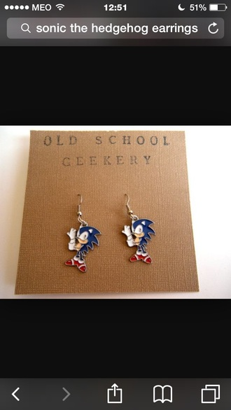 jewels earings blue red sonic the hedgehog