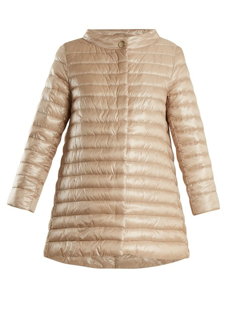Herno jacket down jacket high quilted beige
