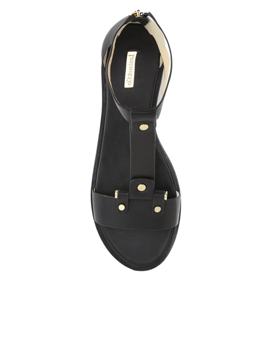 Louise et Cie Cadence Sandal in Black — Shoebox