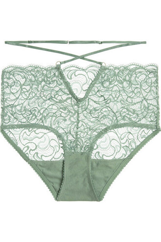 lace green underwear