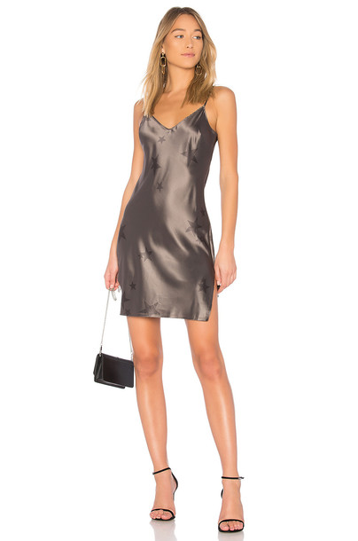 Pam & Gela dress slip dress charcoal