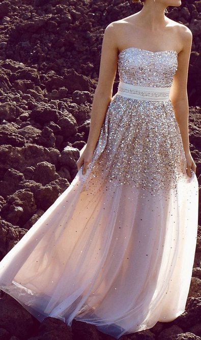 Champagne Prom Party Dress
