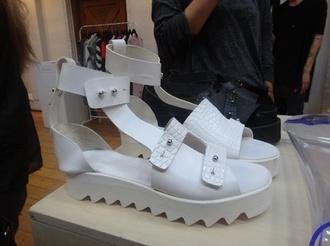 shoes white sandals designer stylish straps