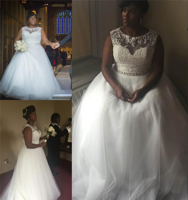 2016 plus size amelia sposa a line wedding dresses for Plus size african wedding dresses