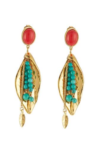 earrings pendant gold jewels