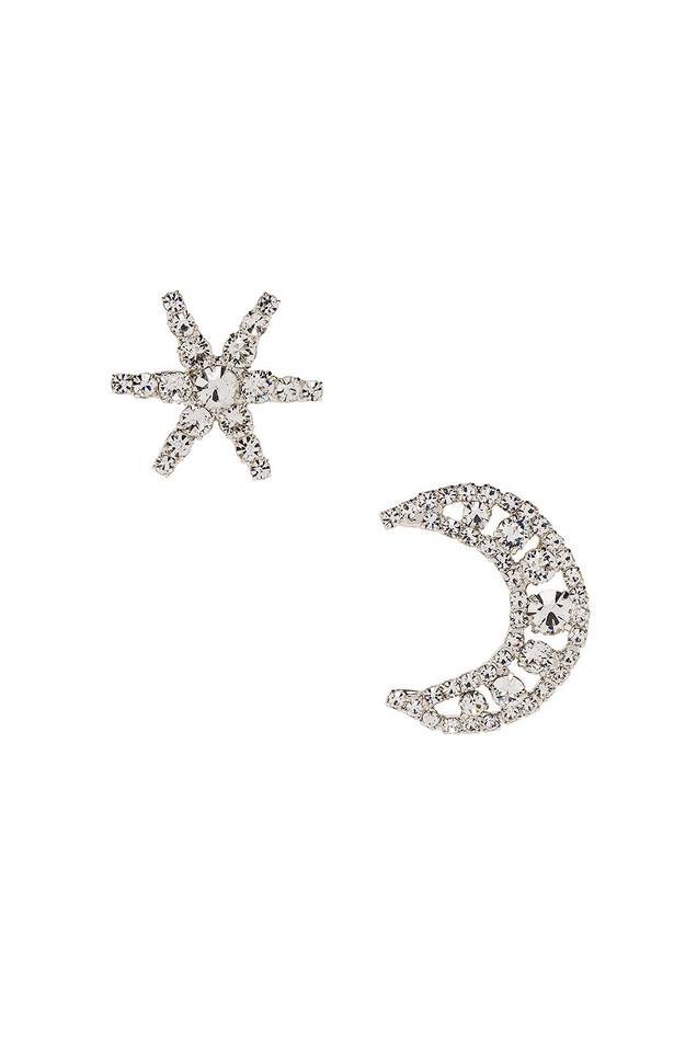 Jennifer Behr Leo Earrings in metallic / silver