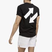 t-shirt,les girls les boys,arrow,black,black t-shirt,menswear,curved hem,classic t shirts,graphic tee
