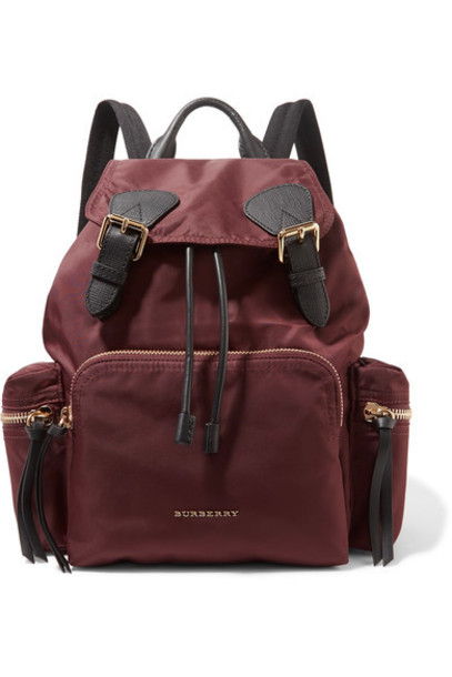 Burberry backpack leather burgundy bag