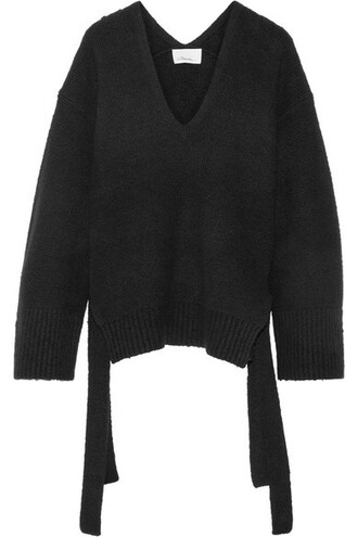 sweater cotton black
