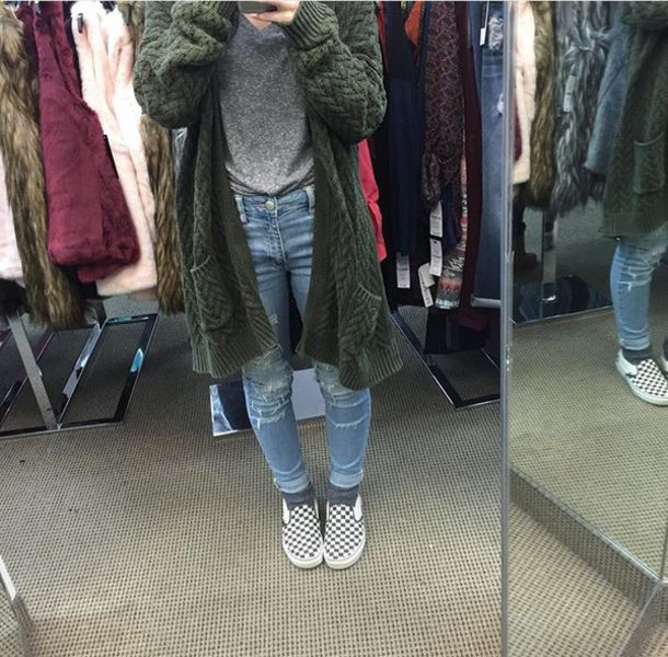 Sweater Green Cover Up Grunge Aesthetic Aesthetic