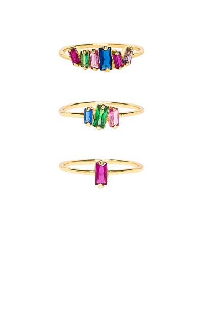 gorjana Amara Ring Set in gold / metallic