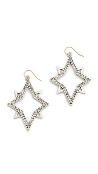 clear earrings silver jewels
