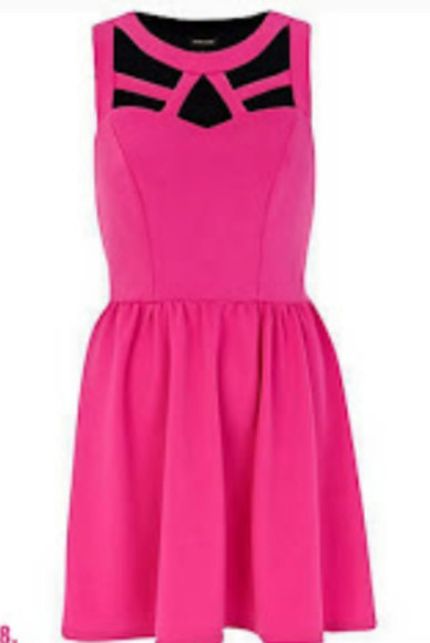 dress pink cut-out