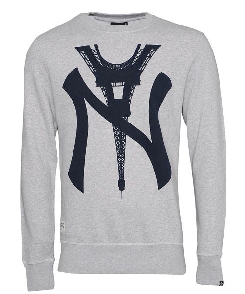 Two angle mens g city jumper (heather grey)