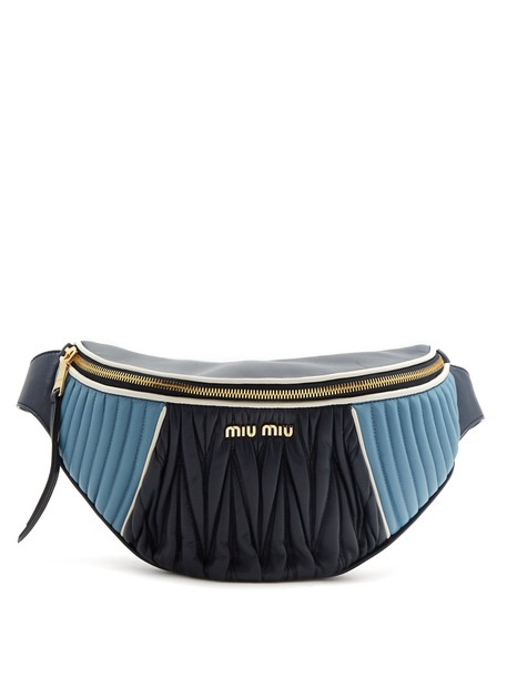 Miu Miu belt bag bag leather blue