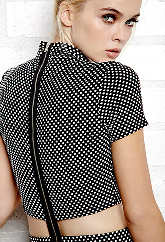 Mod Dots Cutout Dress | FOREVER21 - 2000090416