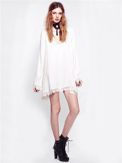 For Love & Lemons Angelic Dress in White