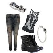 shoes,camouflage,punk,shirt,paris,black,lace,skull,rock