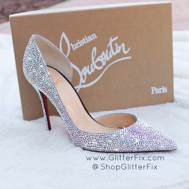 e8644d99280 Custom strassed Christian Louboutin Iriza Half D'Orsay Pumps 100mm ...
