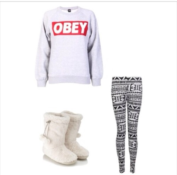 sweater pants shoes
