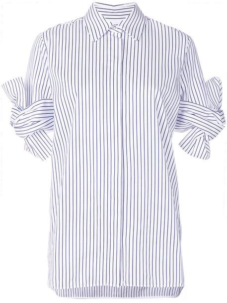 Victoria Victoria Beckham shirt bow women white cotton top