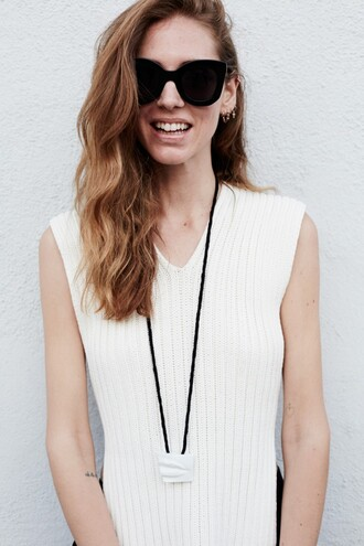 the blonde salad blogger top sunglasses knitwear