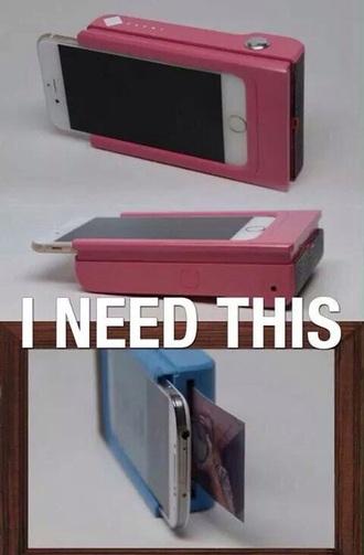 bag camera print phone