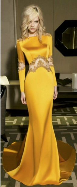 Dress Prom Prom Dress Yellow Yellow Dress Silk Dress Mustard