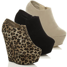 Ladies Ankle Wedge Boots - Yu Boots