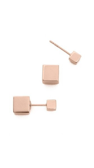 mini rose gold rose earrings gold jewels