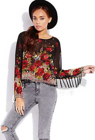 Enchanted Rose Top | FOREVER21 - 2000065093