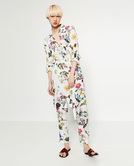70acbe75 FLORAL PRINT TROUSERS - TROUSERS-SALE-WOMAN | ZARA United States