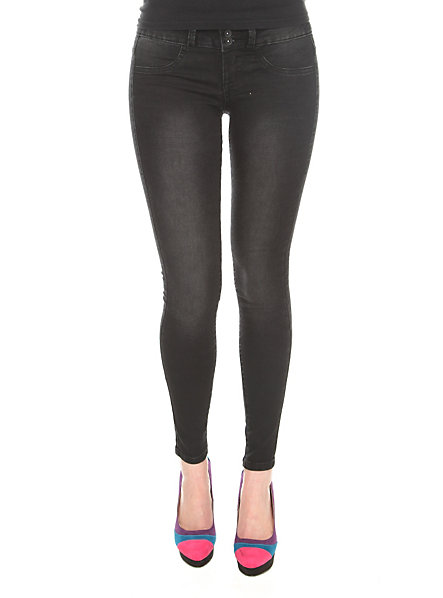 LOVEsick Black 3-Button Super Skinny Jeggings | Hot Topic