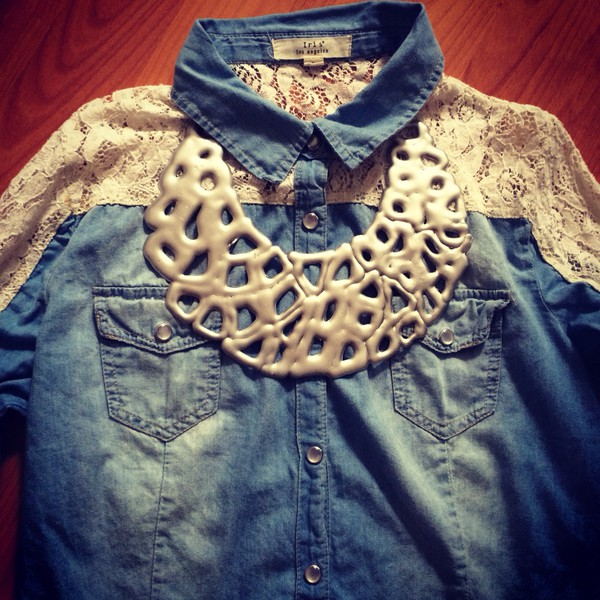 jewels jacket necklace design pattern sketchjw sketchjewry style look jeans