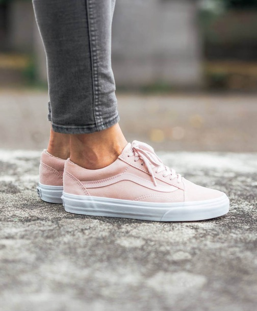 shoes vans sneakers womens vans pink baby pink hightop vans 1180d013ce