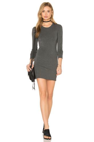 dress mini dress mini long charcoal