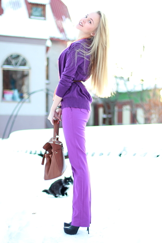 purple pants cablook pants
