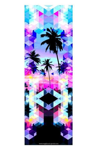 5e3f01a524506 home accessory black blue palm tree print pink print purple vagabond goods  yoga mat bikiniluxe