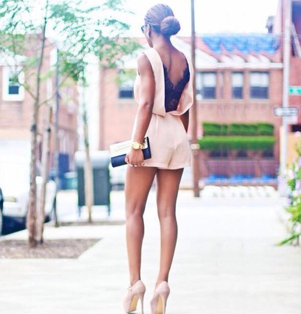jumpsuit fashion nude