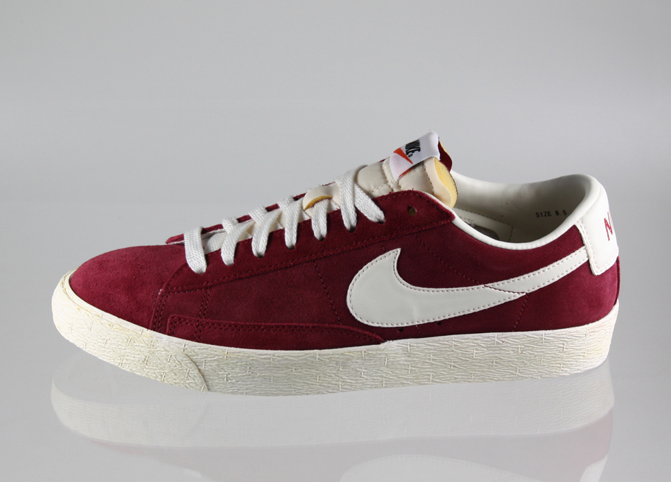 sports shoes 9b116 15f99 Nike Blazer low vintage suede (burgundy weiss)  asphaltgold