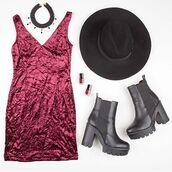 dress,crushed velvet dress,tank dress,burgundy dress,burgundy velvet dress,v neck dress,wine dress,crushed velvet style,fashion,v neck tank dress,angl,crushed velvet,red velvet dress