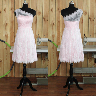 dress prom prom dress pink organza pink dress pastel pastel pink fashion style love pretty wow mini mini dress short short dress white lace lace dress tulle dress special occasion dress bridesmaid trendy girly vogue cool comfy