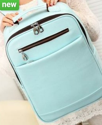 bag baby blue korean style backpack