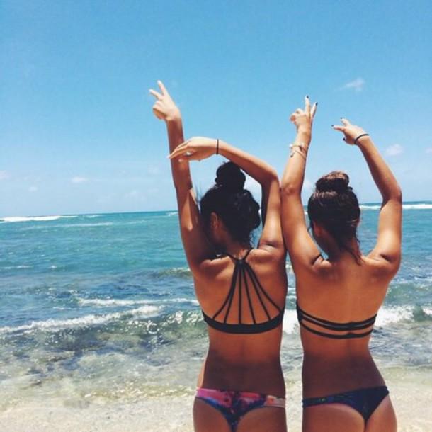 swimwear black bikini top
