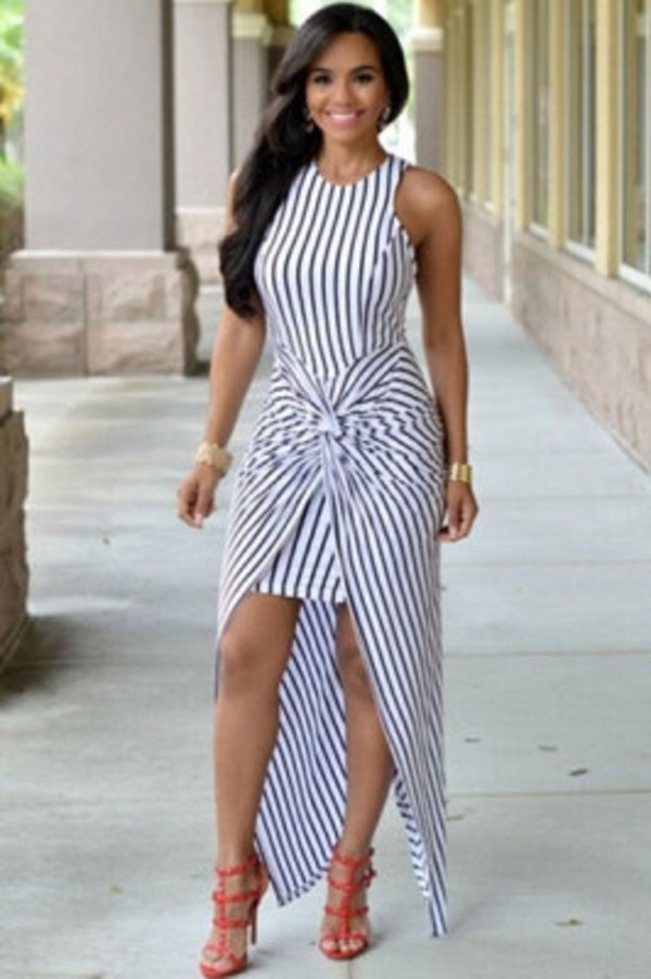 Dress Wots Hot Right Now Maxi Dress Stripes Striped Dress Front