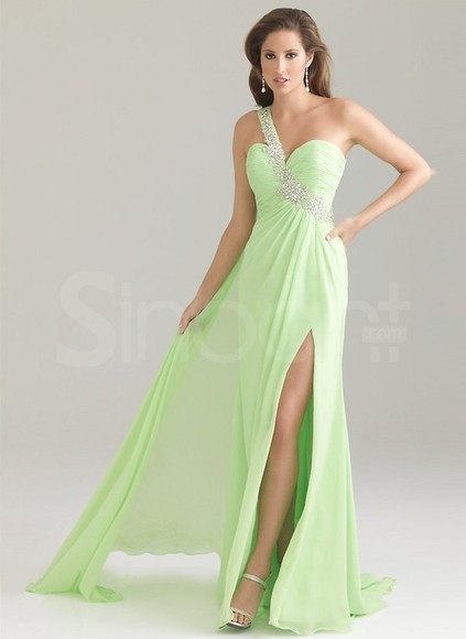 dress homecoming dramatic colour one-shoulder empire waist