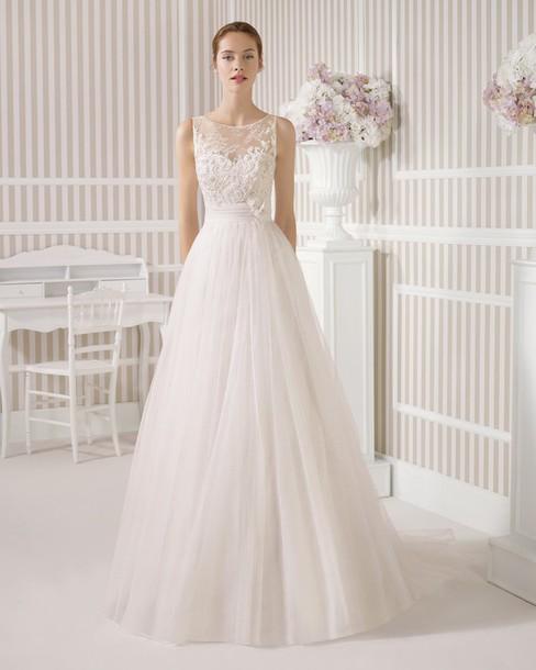 Dress Landybridal Wedding Dresses 2015 Popular Bridal Dresses 2015 New Trends A Line Straps