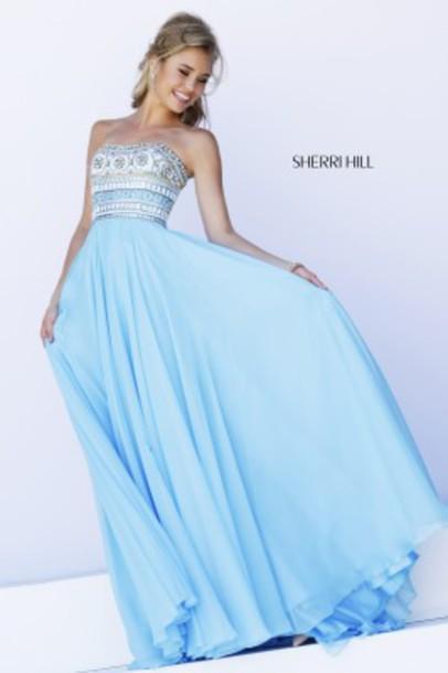 blue dress dress prom dress detailed top