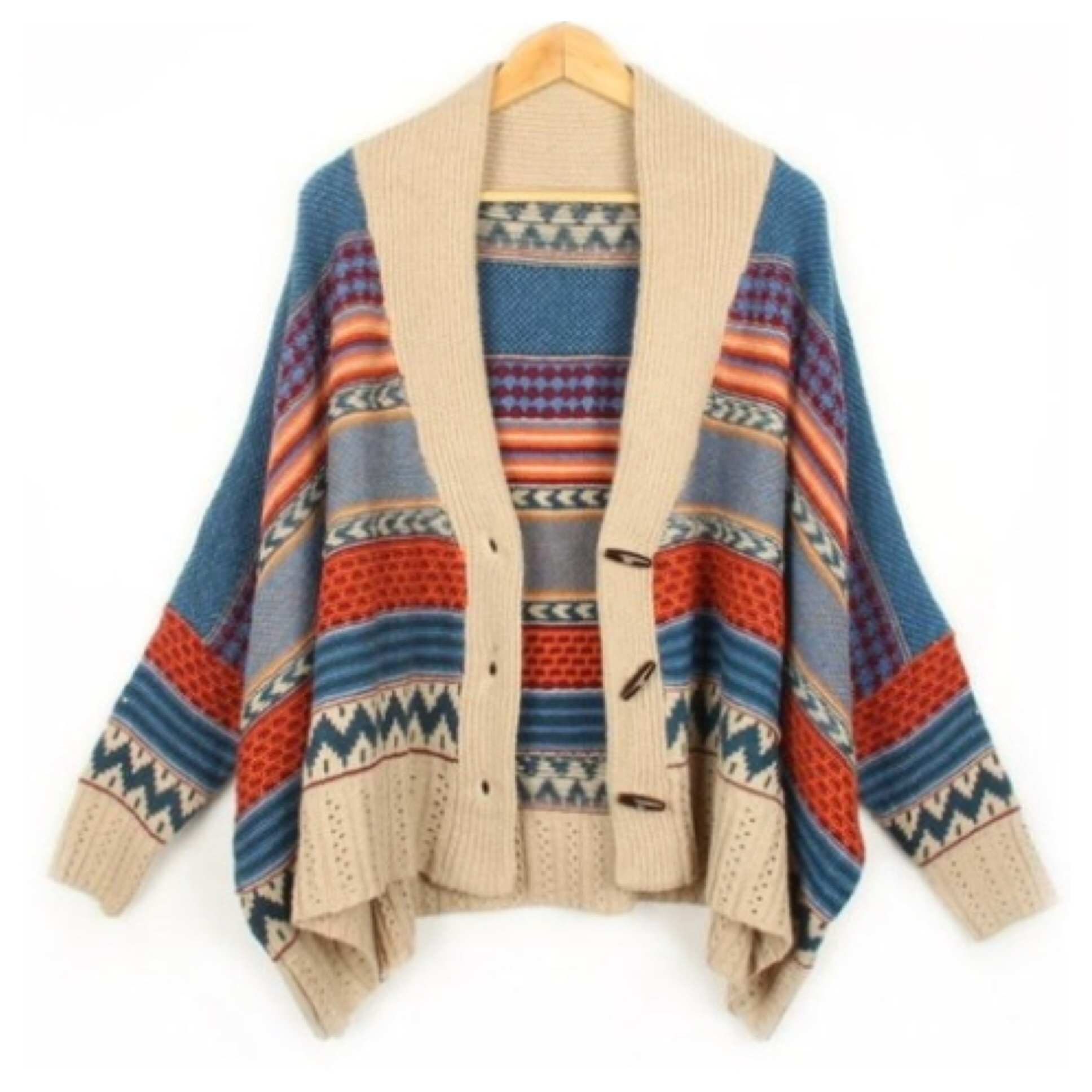 Toggle knitted oversize cardigan from doublelw on storenvy